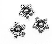 Ezüst Színű Virág Nyaklánc Karkötő Ékszer Dísz Közdarab Köztes 8mm