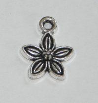 Ezüst Színű Virág Medál 10x14mm