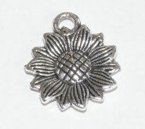 Ezüst Színű Virág Medál 15,5mm