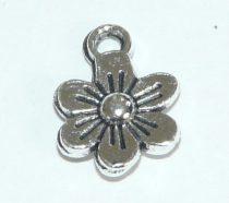 Ezüst Színű Virág Medál 9mm
