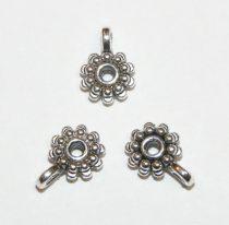 Ezüst Színű Virág Medáltartó Nyaklánc Karkötő Ékszer Dísz Közdarab Köztes 8,5mm
