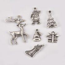 Ezüst Színű Karácsonyi Ajándék Zokni Medál Karácsonyfa Dísz 21x11mm