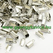 Ezüst Színű Zsinórvég Kordvég 13,5x4,5mm