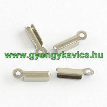 Ezüst Színű Zsinórvég Kordvég 11x3x2,5mm
