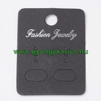 Fekete Árazócimke Ékszercimke Fashion Jewelry Fülbevaló 45x32mm
