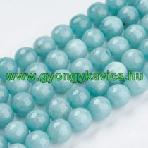 Fazettált Akvamarin Jade Ásványgyöngy Gyöngyfüzér 10mm