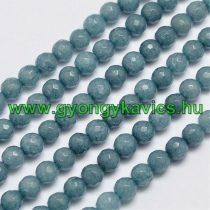 Fazettált Akvamarin Jade Ásványgyöngy Gyöngyfüzér 6mm