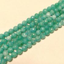 Fazettált Akvamarin Jade Ásványgyöngy Gyöngyfüzér 8mm