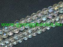 Fazettált Angyal Aura Kvarc Ásványgyöngy 10mm