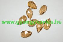 Fazettált Arany Üveg Prizma Medál Csüngő Dísz 28x17x9mm