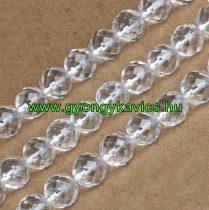 Fazettált Hegyikristály Ásványgyöngy 10mm