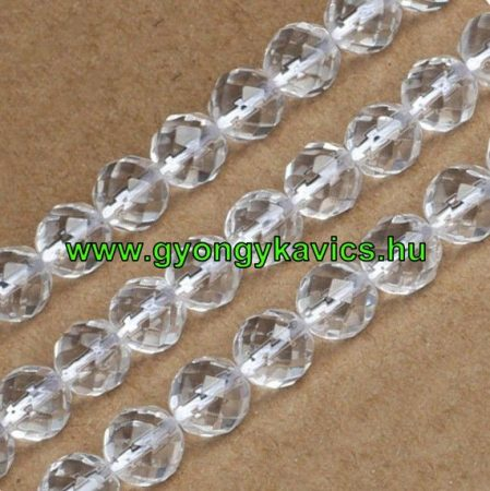 Fazettált Hegyikristály Ásványgyöngy Gyöngyfüzér 6mm