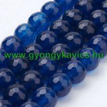 Fazettált Kék Jade Ásványgyöngy 8mm