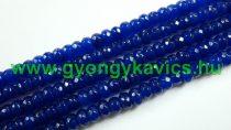 Fazettált Kék Jade Korong Ásványgyöngy Gyöngyfüzér 8x5mm