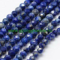 Fazettált Lazurit Lápisz Lazuli Ásványgyöngy Gyöngyfüzér 2mm