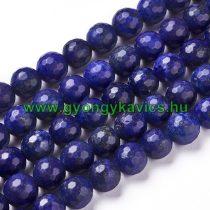 Fazettált Lazurit Lápisz Lazuli Ásványgyöngy 8mm