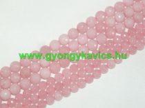 Fazettált Rózsaszín Pink Jade Ásványgyöngy Gyöngyfüzér 6mm