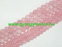 Fazettált Rózsaszín Pink Jade Ásványgyöngy 6mm