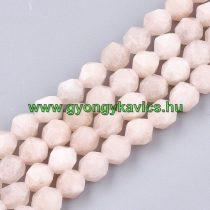 Fazettált Polygon Rózsaszín Berill Morganit Ásványgyöngy Gyöngyfüzér 10mm