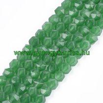 Fazettált Polygon Zöld Jade Ásványgyöngy Gyöngyfüzér 8mm