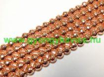 Fazettált Rózsaarany Hematit (128-as) Ásványgyöngy Gyöngyfüzér 8mm
