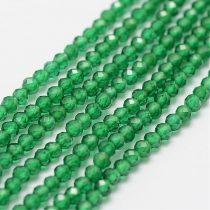 Fazettált Smaragd Ásványgyöngy Gyöngyfüzér 2mm