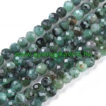 Fazettált Smaragd Ásványgyöngy Gyöngyfüzér 4mm