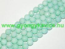 Fazettált Türkiz Türkizkék Jade Ásványgyöngy Gyöngyfüzér 10mm