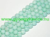 Fazettált Türkiz Türkizkék Jade Ásványgyöngy Gyöngyfüzér 8mm