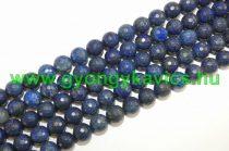 Fazettált Világos Lazurit Lápisz Lazuli Ásványgyöngy 10mm