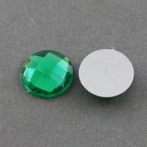 Fazettált Zöld Akril Kaboson 8mm