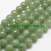 Fazettált Zöld Aventurin Ásványgyöngy  4mm