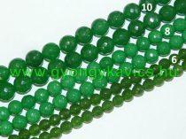 Fazettált Zöld Jade Ásványgyöngy 10mm