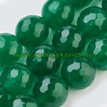 Fazettált Zöld Jade Ásványgyöngy Gyöngyfüzér 6mm