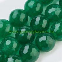 Fazettált Zöld Jade Ásványgyöngy 6mm