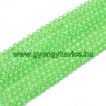 Fazettált Zöld Kvarc Ásványgyöngy Gyöngyfüzér 2mm