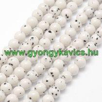 Fehér Bodhi Jade Ásványgyöngy Gyöngyfüzér 6mm