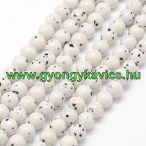 Fehér Bodhi Jade Ásványgyöngy 8mm