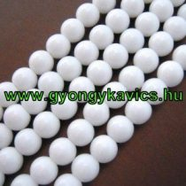 Fehér Jade Ásványgyöngy Gyöngyfüzér 4mm