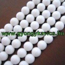 Fehér Jade Ásványgyöngy Gyöngyfüzér 6mm