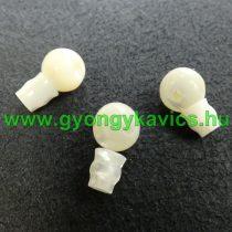 Fehér Kagyló Guru Gyöngy 9x15mm