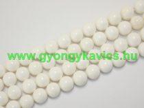 Fehér (2) Kagyló Gyöngy Gyöngyfüzér 10mm