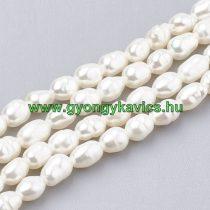 Fehér Kagyló Gyöngy 4-5x3-3,5mm