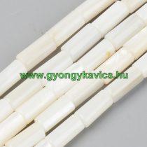 Fehér Kagyló Oszlop Gyöngy Gyöngyfüzér 10x5mm