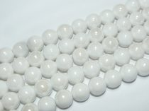 Fehér Kerámia Gyöngy Gyöngyfüzér 16mm
