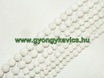 Fehér Lávakő Ásványgyöngy Gyöngyfüzér 4mm