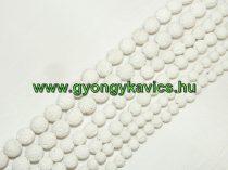 Fehér Lávakő Ásványgyöngy Gyöngyfüzér 8mm