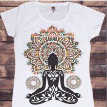 Fehér Jóga Meditáció Póló XS