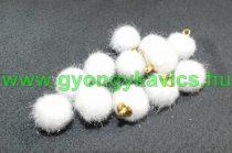 Fehér Pom Pom Pompom 12mm