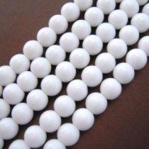 Fehér Porcelán Gyöngyfüzér 10mm